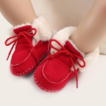 Baby Girl Tie Front Wide Fit Boots