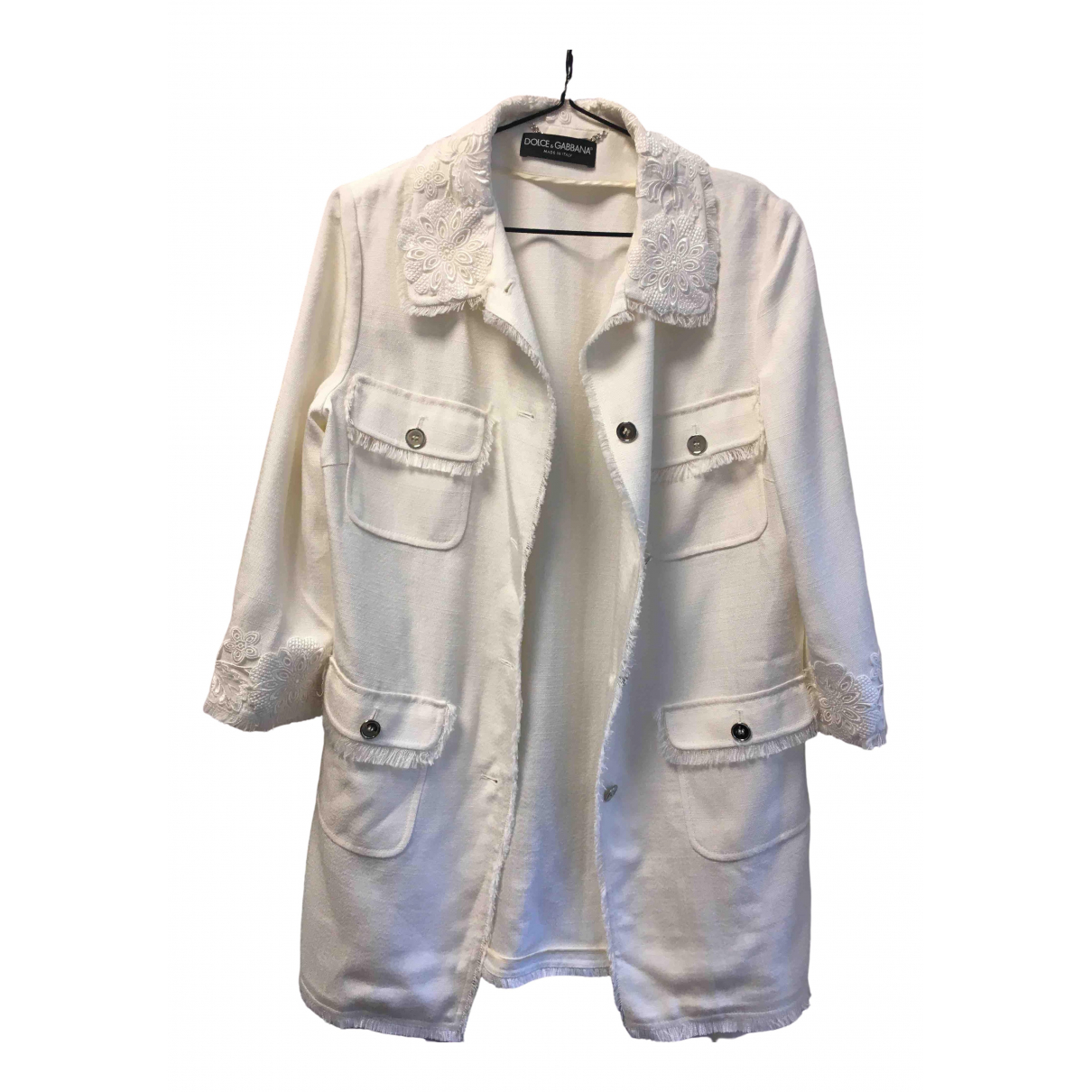 Dolce & Gabbana \N White Cotton jacket for Women 40 IT