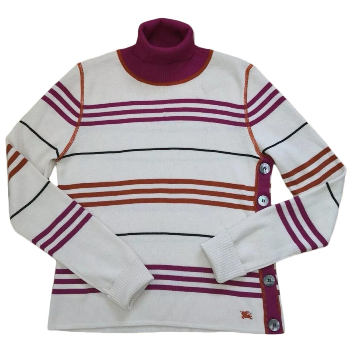 Burberry - Pull   pour femme en laine - multicolore