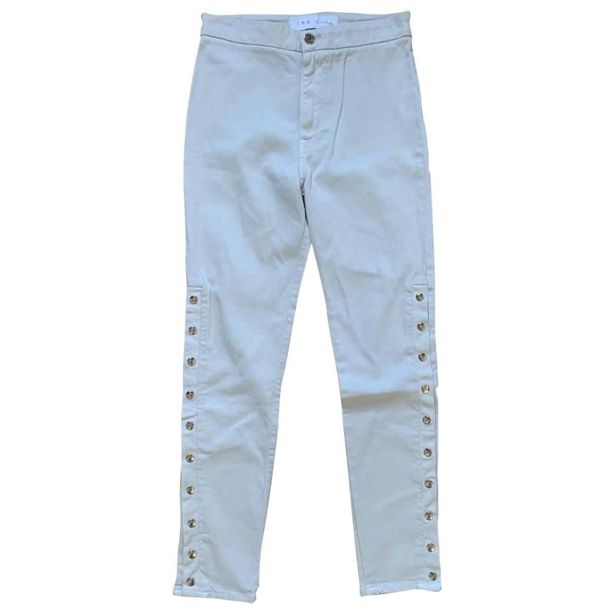 Iro \N Grey Cotton - elasthane Jeans for Women 26 US