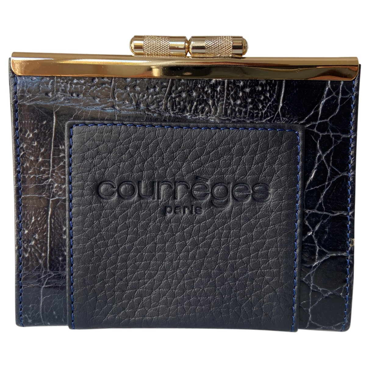 Courrèges N Blue Leather Purses, wallet & cases for Women N