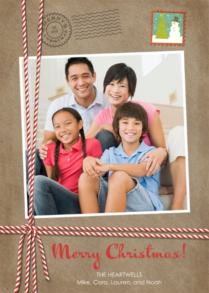 Christmas Photo Cards 5x7 Cards, Premium Cardstock 120lb, Card & Stationery -Stamped Merriment