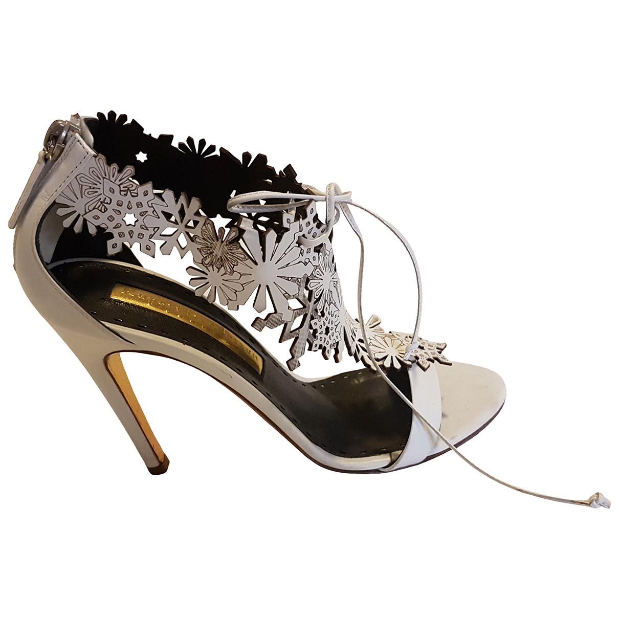 Rupert Sanderson \N White Leather Sandals for Women 36 EU