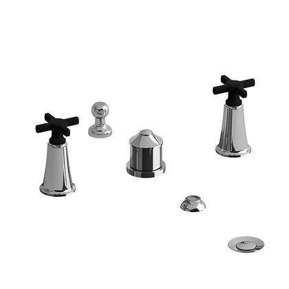 Momenti MMRD09+CBK 4-Piece Bidet Faucet with Integrated Vacuum Breaker with + Cross Handles  in