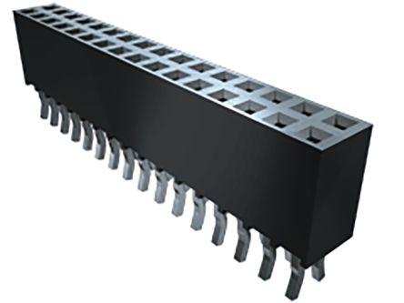 Samtec , SSQ 2.54mm Pitch 50 Way 1 Row Vertical PCB Socket, Through Hole, Solder Termination