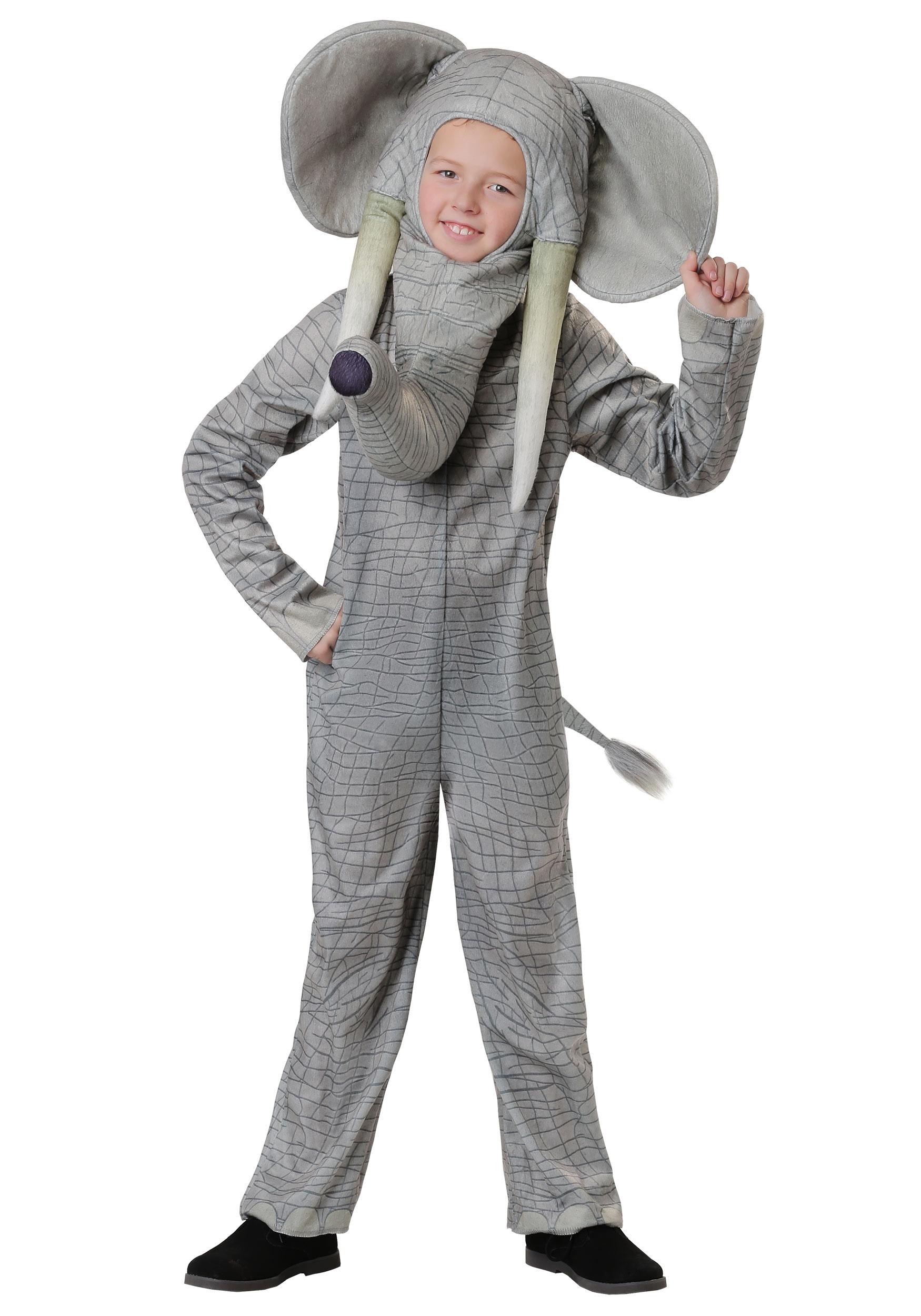 Realistic Elephant Costume for Kids