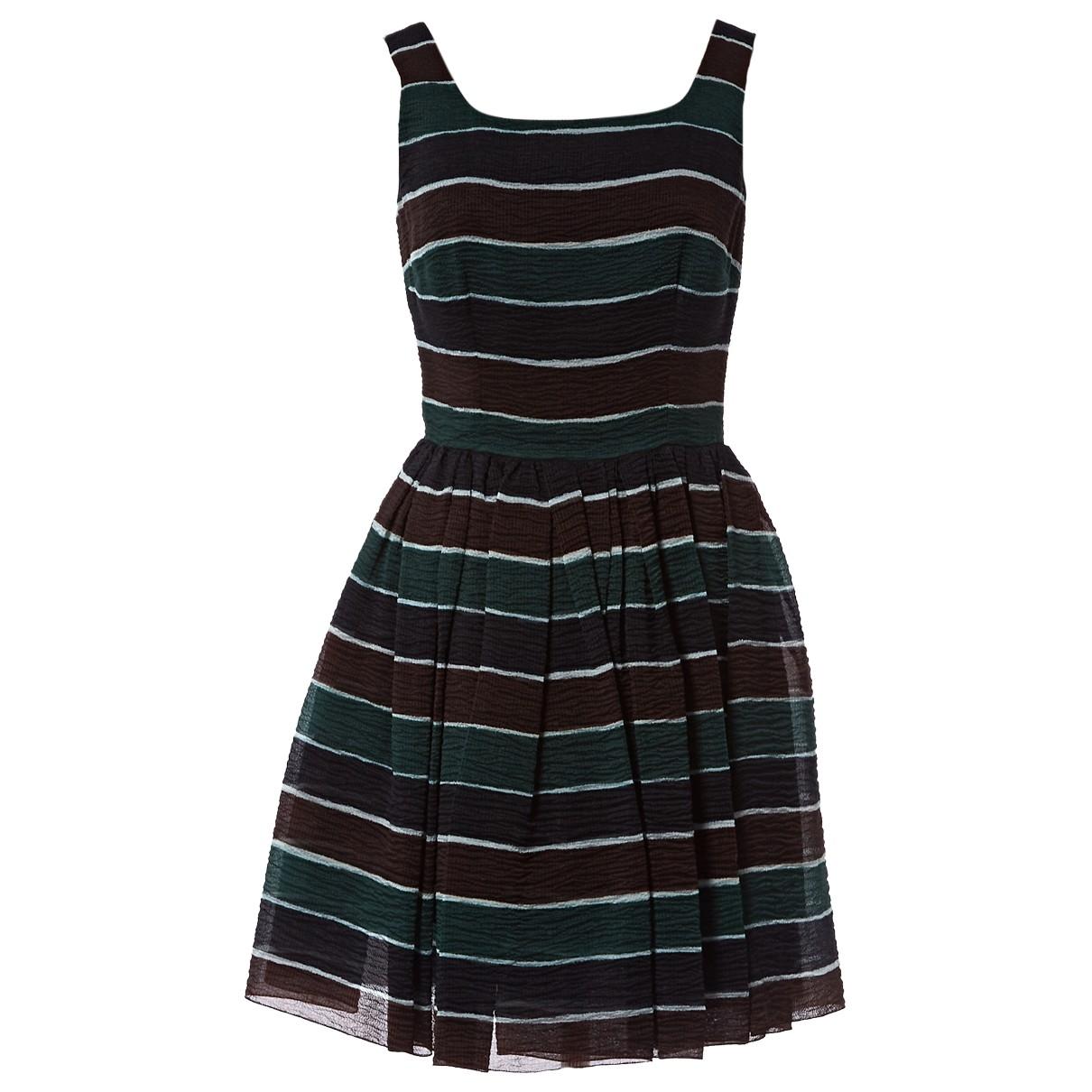 Dolce & Gabbana \N Brown Silk dress for Women 40 IT