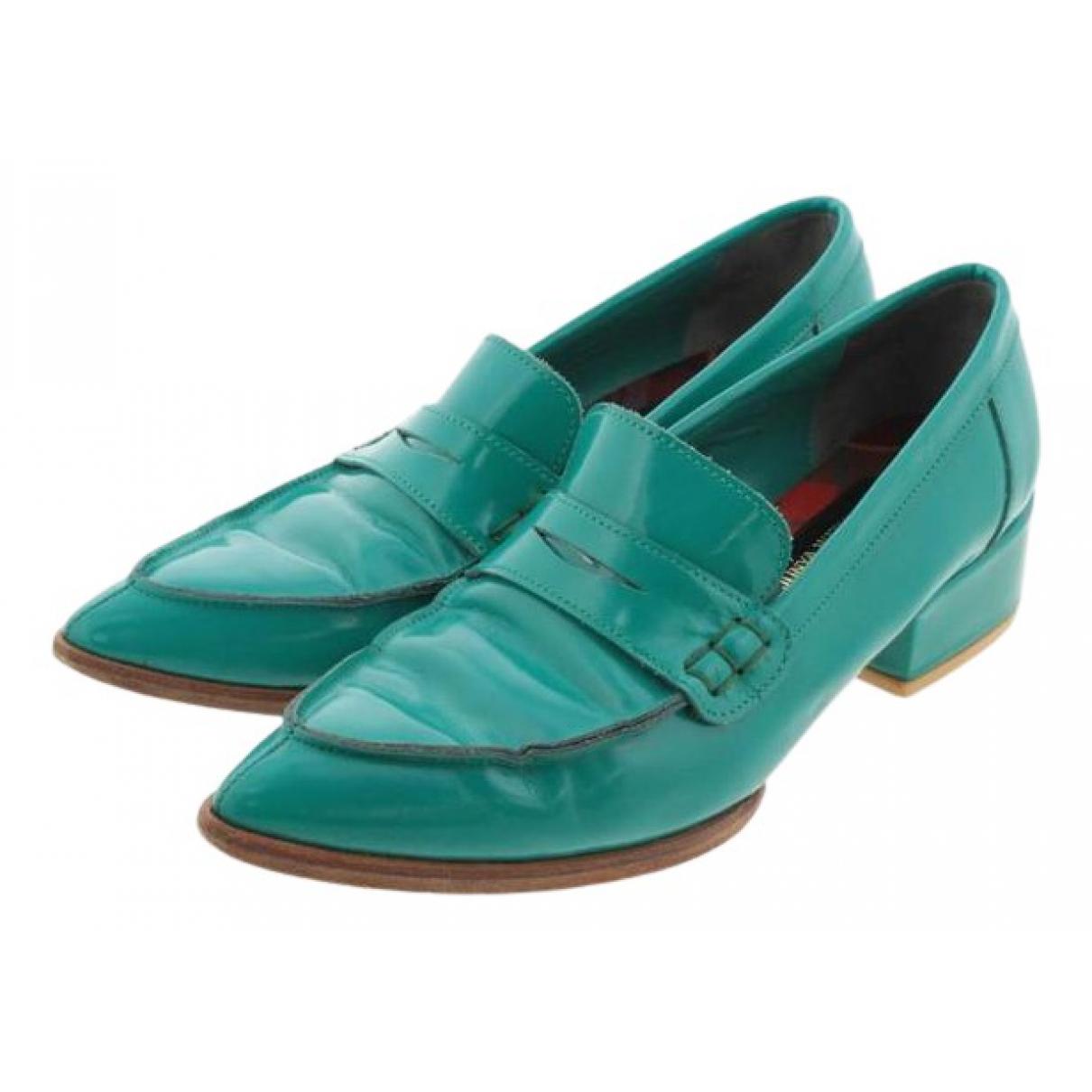 Comme Des Garcons N Green Patent leather Ballet flats for Women 40 EU