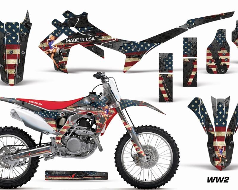 AMR Racing Dirt Bike Graphics Kit Decal Sticker Wrap For Honda CRF450R 2013-2016áWW2 BOMBER