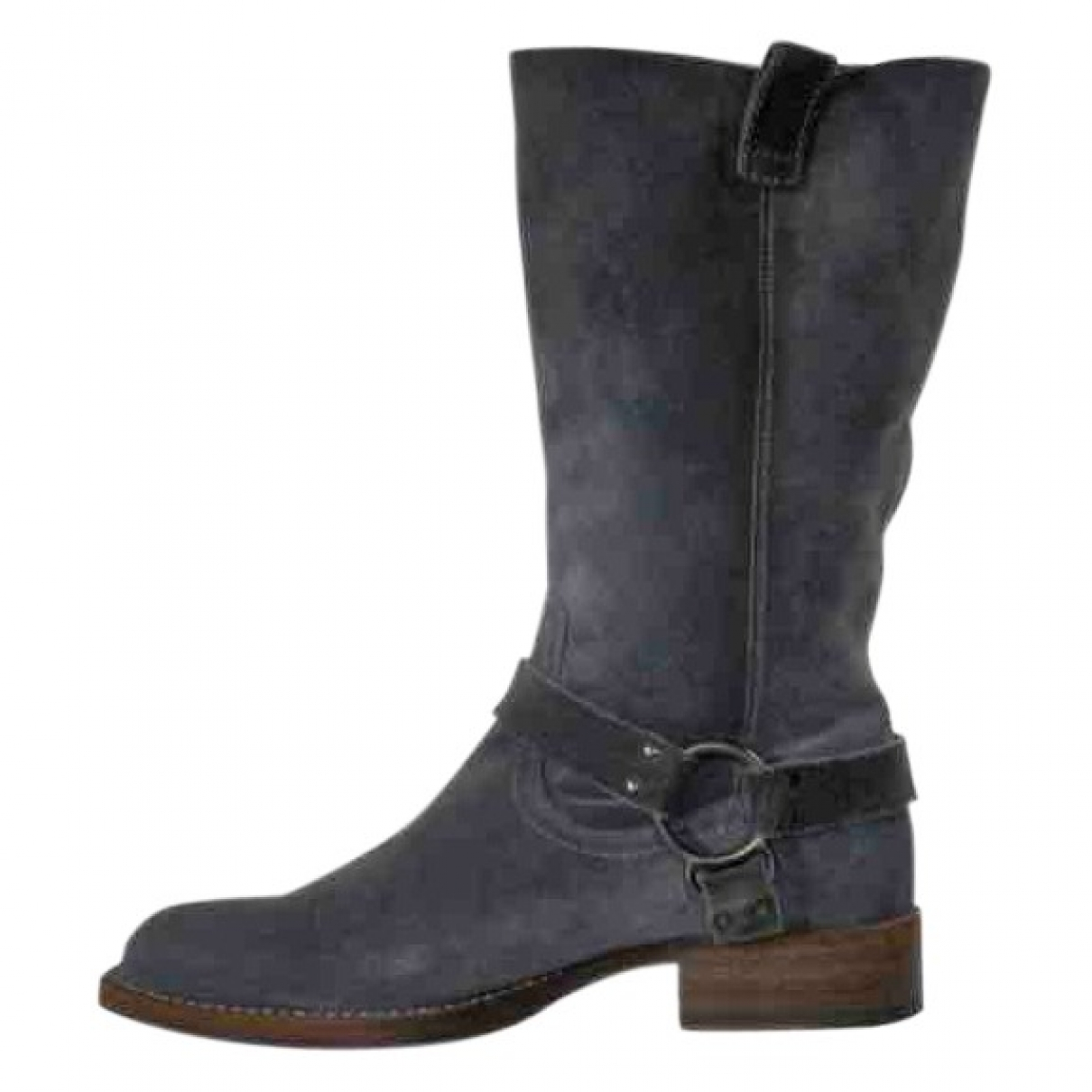 Brunello Cucinelli \N Grey Suede Boots for Women 36.5 IT