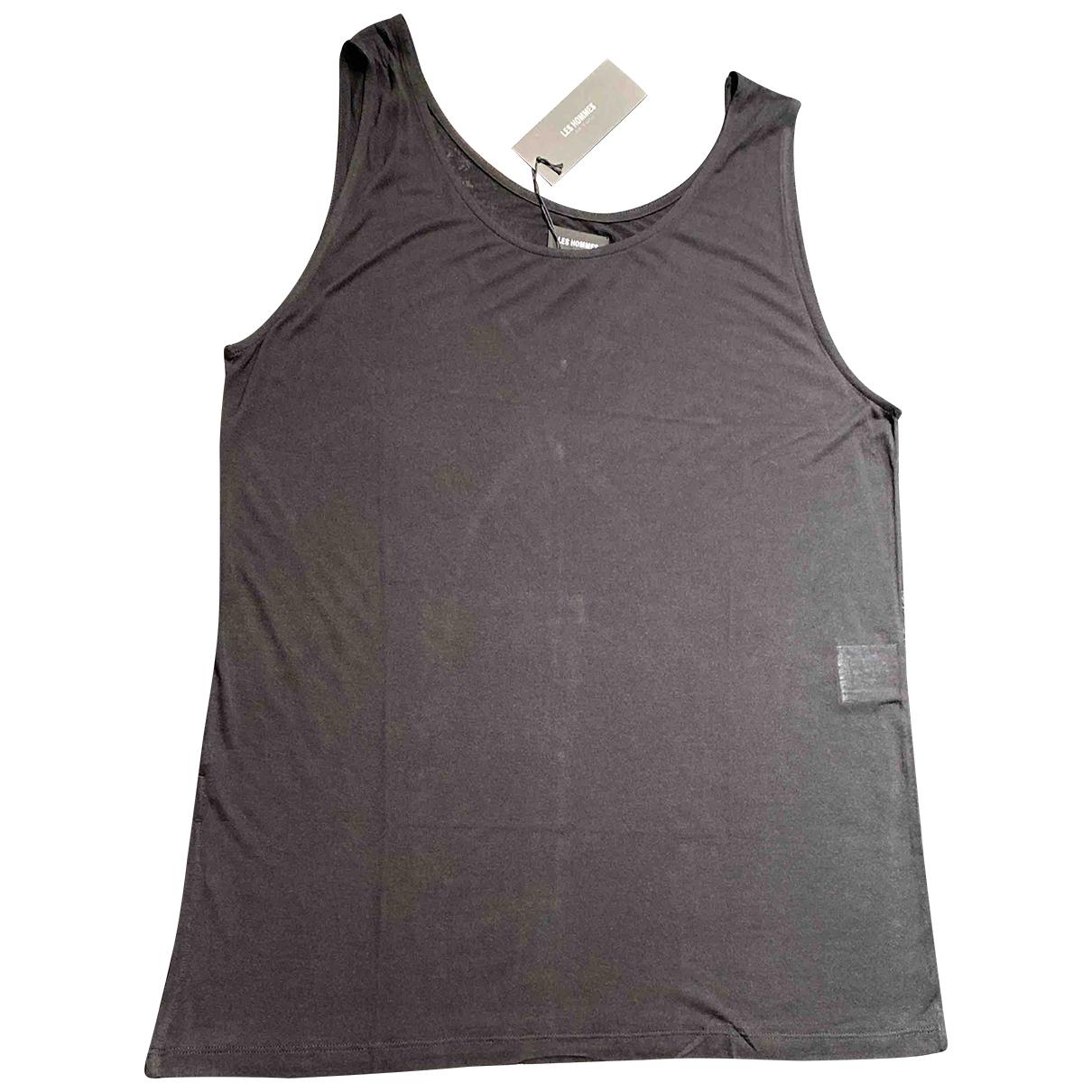 Les Hommes - Tee shirts   pour homme en coton - noir