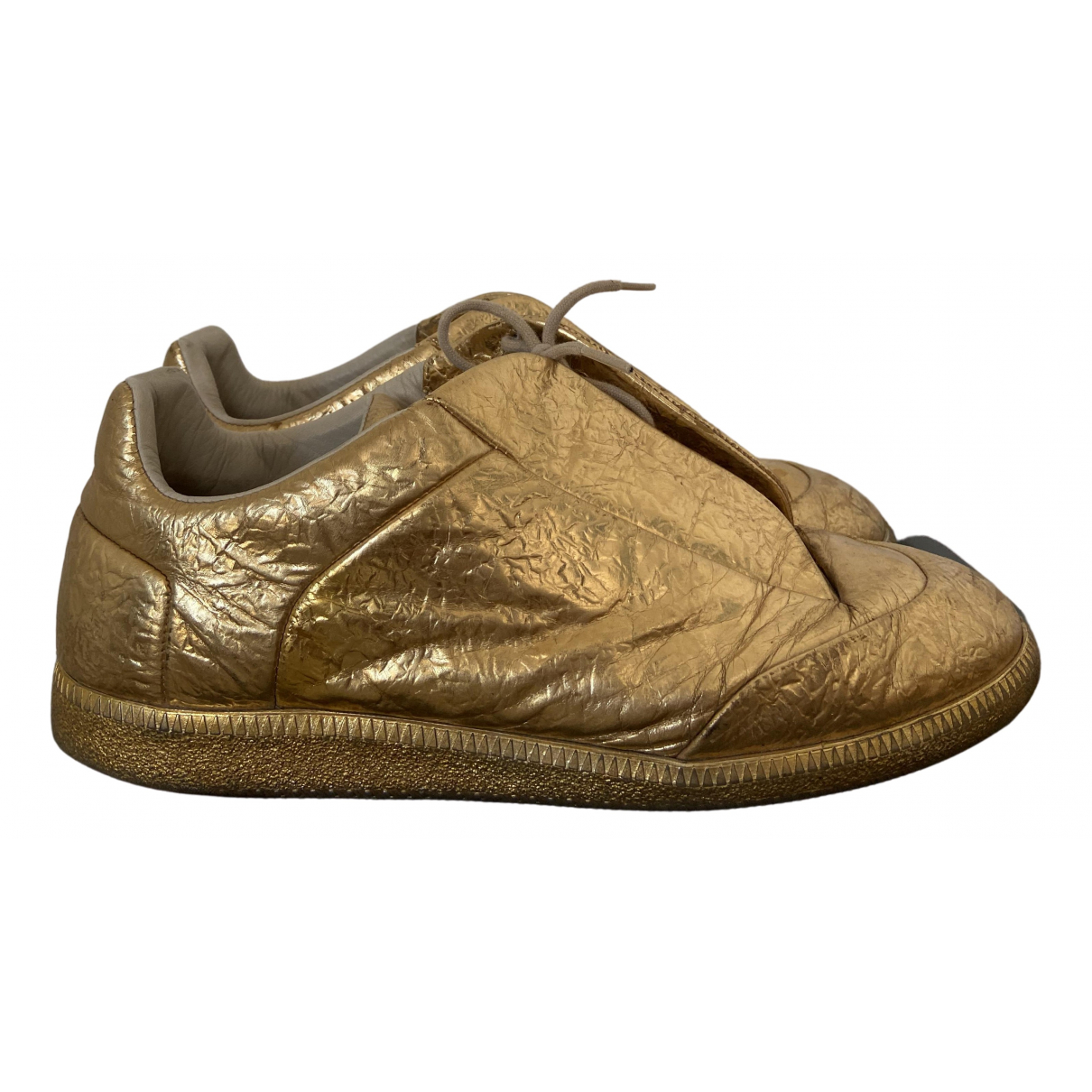 Maison Martin Margiela Future Sneakers in  Gold Polyester