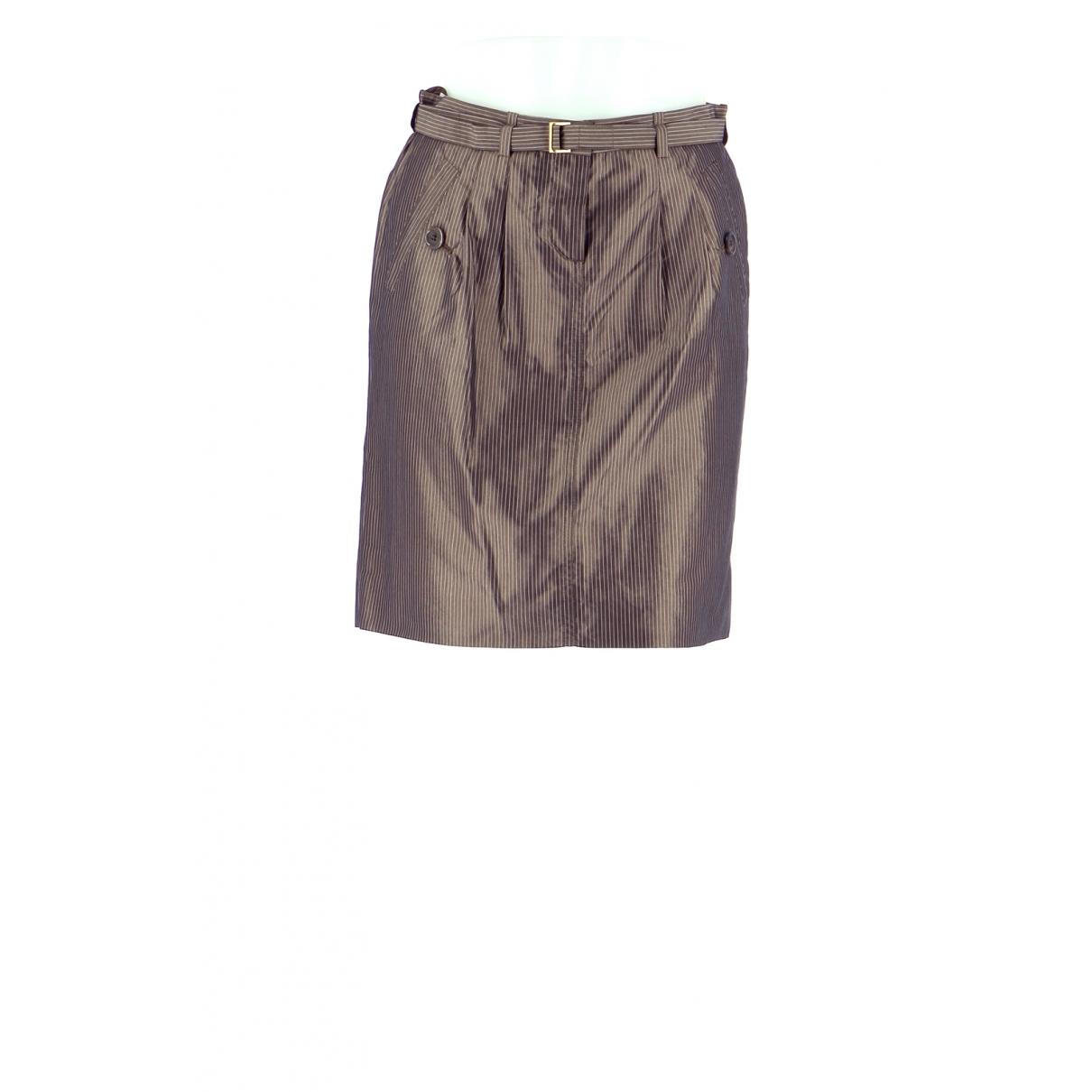 Hugo Boss - Jupe   pour femme en coton - marron