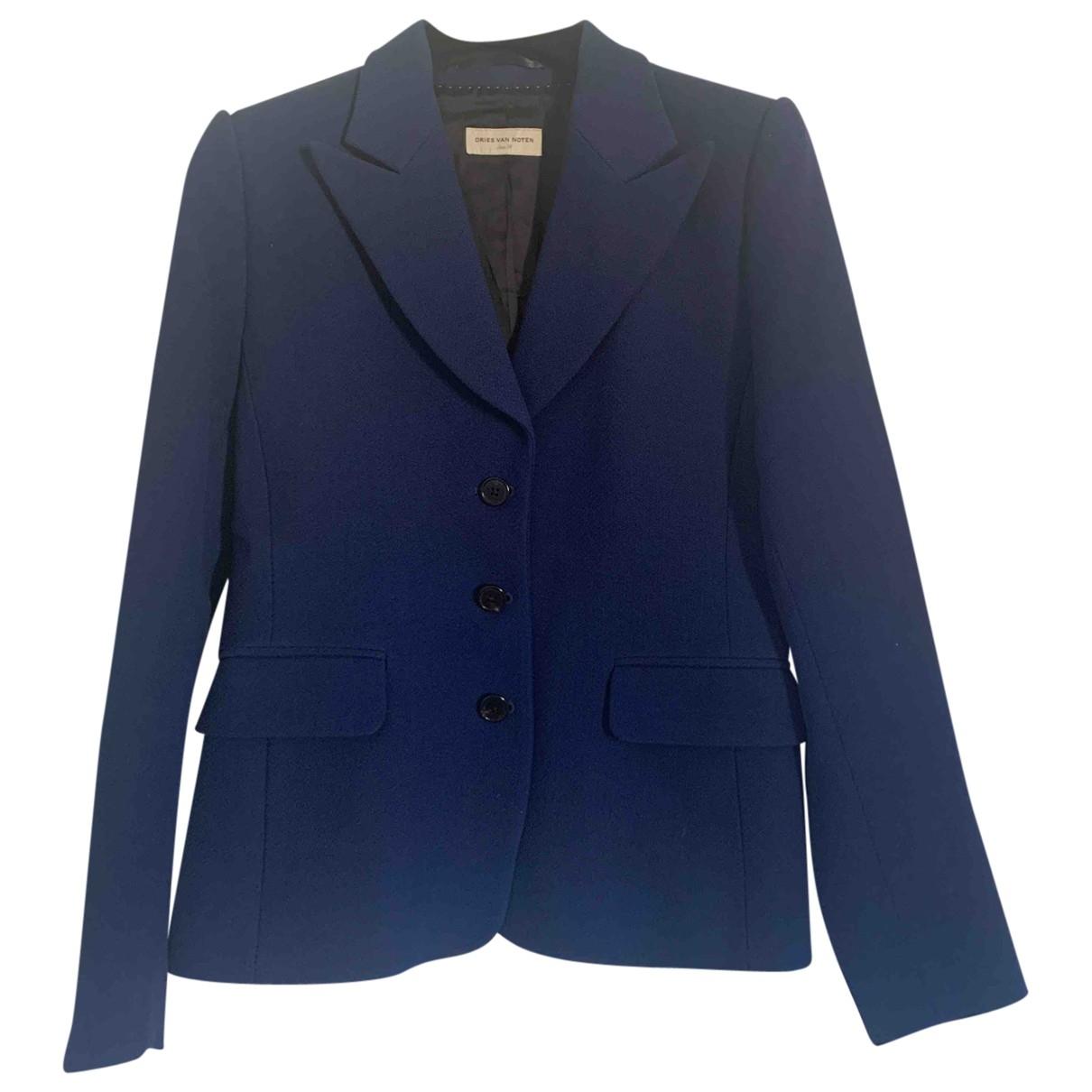 Dries Van Noten \N Blue Wool jacket for Women 38 FR