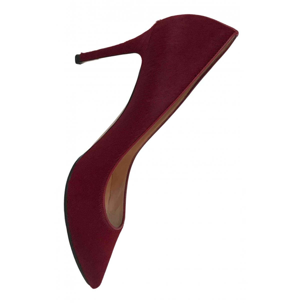 Gianvito Rossi Gianvito Red Pony-style calfskin Heels for Women 40.5 EU