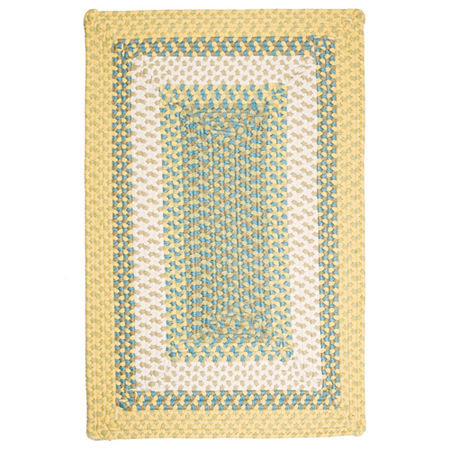 Montego Reversible Braided Indoor/Outdoor Square Rug, One Size , Yellow