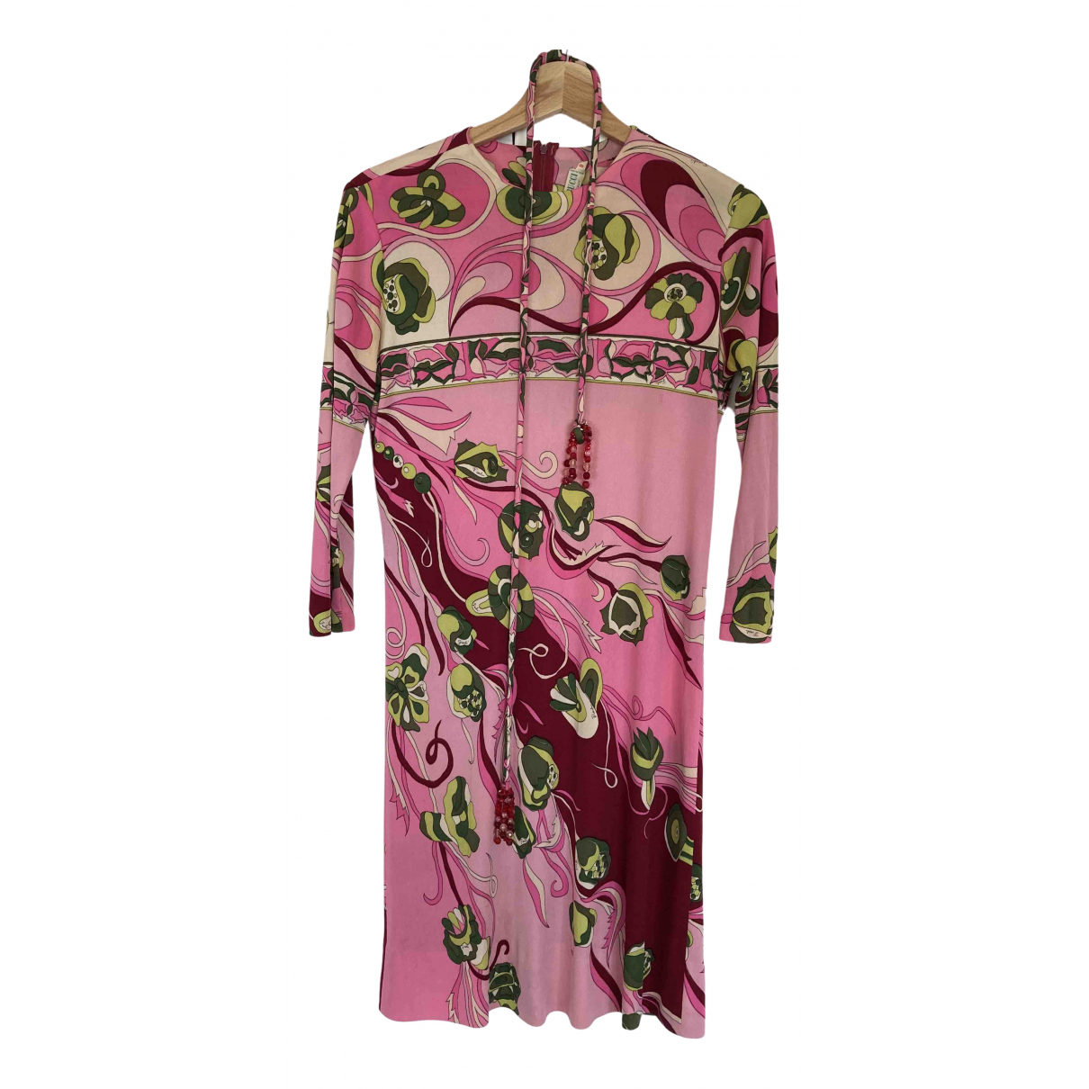 Emilio Pucci \N Kleid in  Rosa Seide