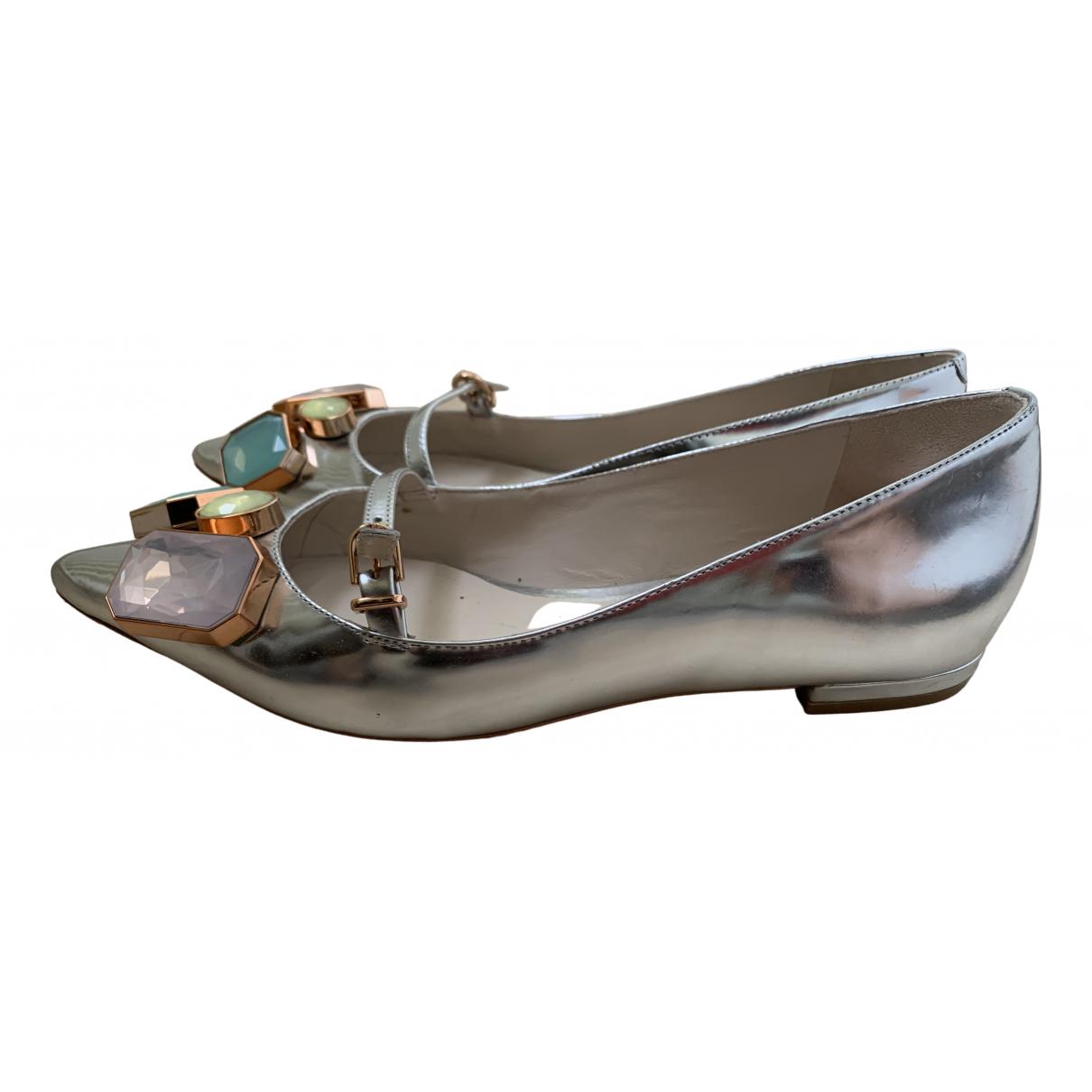 Sophia Webster \N Ballerinas in  Silber Lackleder