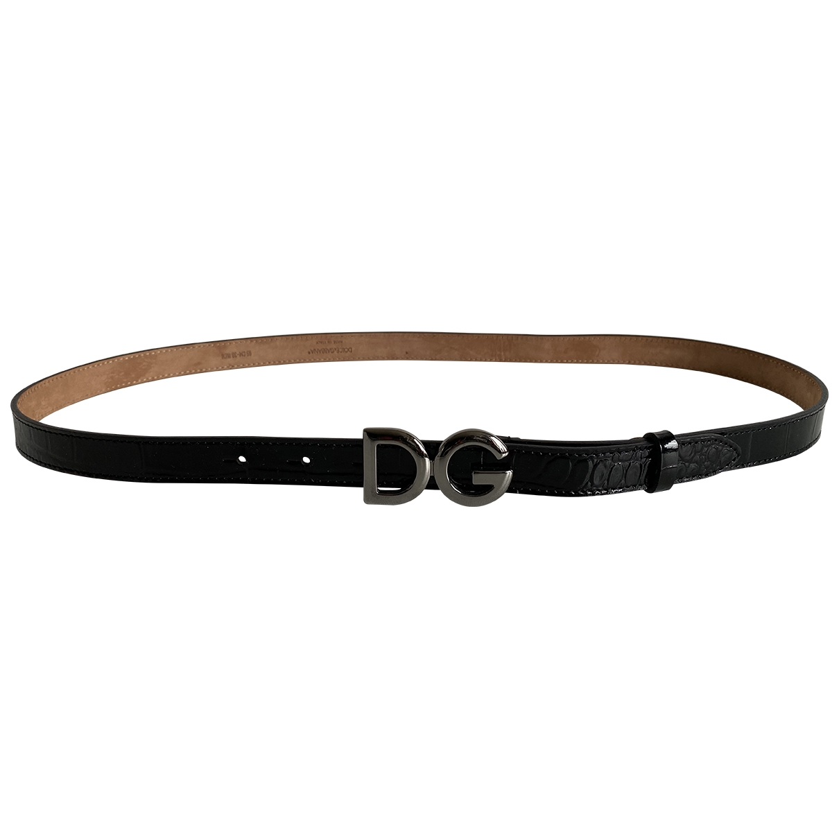Dolce & Gabbana \N Black Patent leather belt for Women 95 cm
