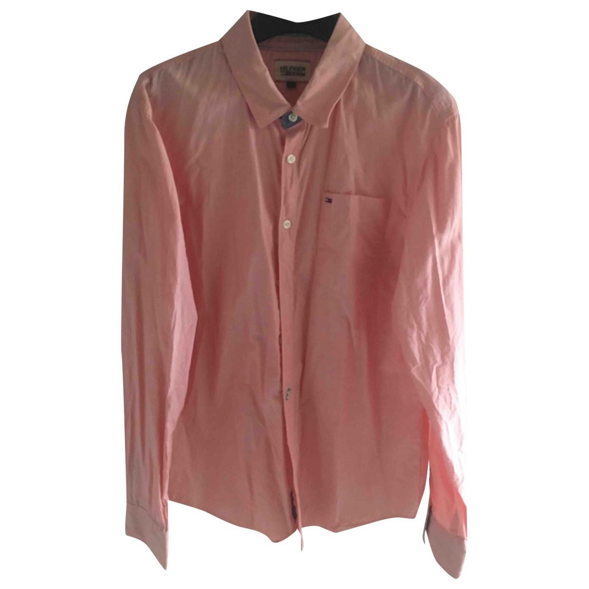 Tommy Hilfiger \N Pink Cotton Shirts for Men L International