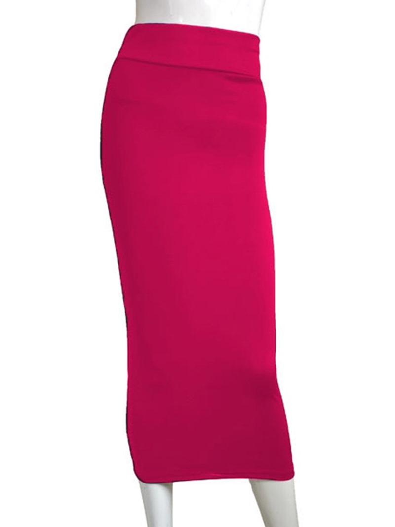 Ericdress Mid-Calf Bodycon Plain Sexy Skirt