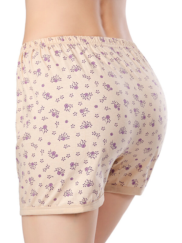 Plus Size Cotton High Waist Breathable Soft Boyshorts
