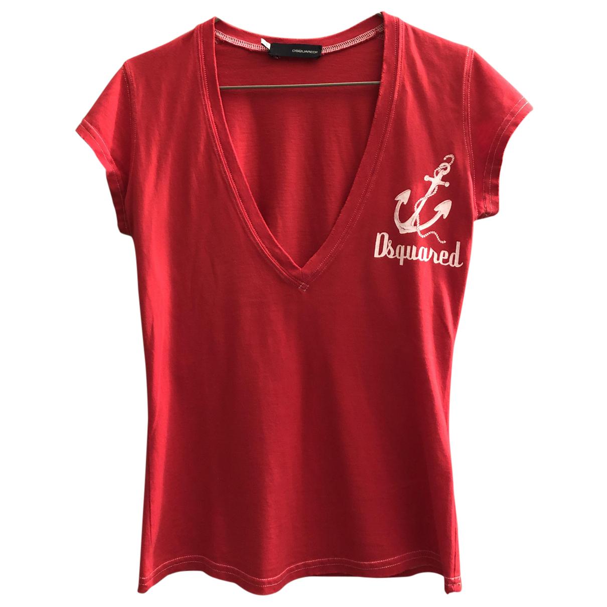 Dsquared2 - Top   pour femme en coton - rouge