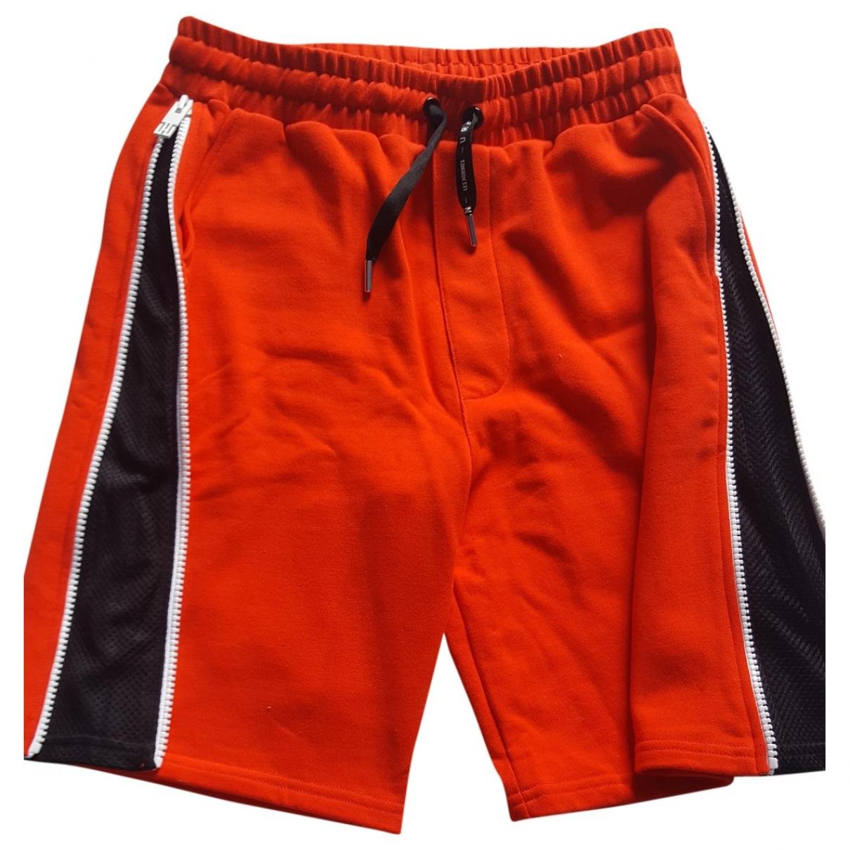 Les Hommes \N Red Cotton Shorts for Men M International