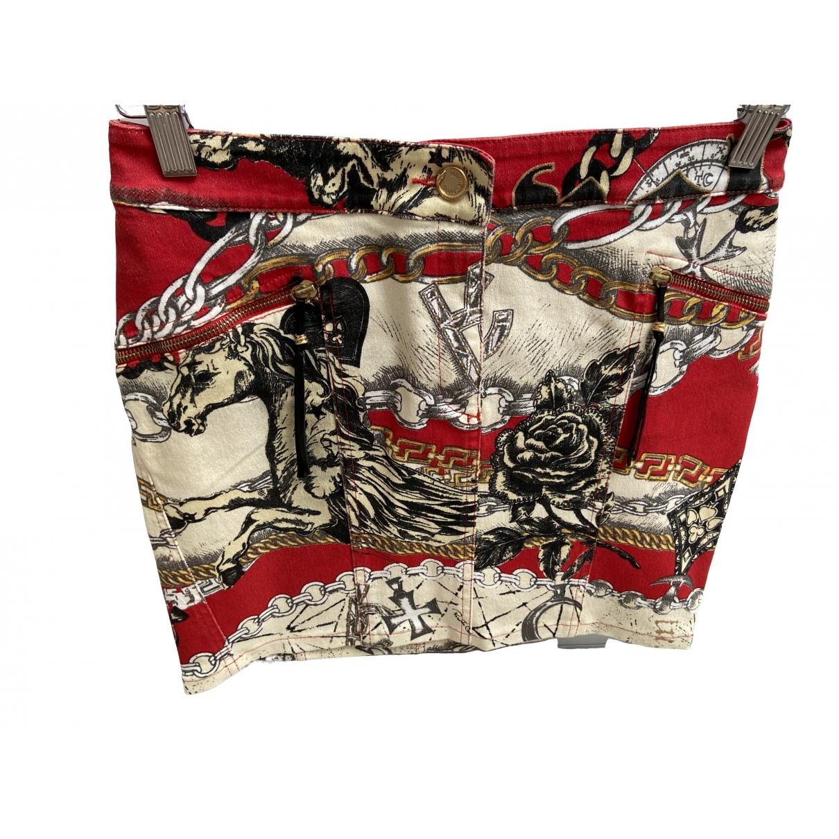 Roberto Cavalli - Jupe   pour femme en coton - rouge
