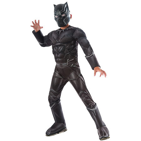 Captain America: Civil War Black Panther Deluxe Muscle Chest Child Costume, Small , Black
