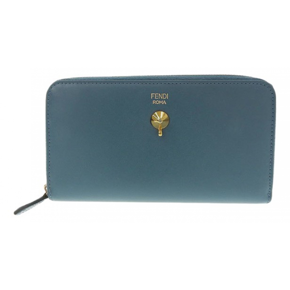 Fendi N Blue Leather wallet for Women N