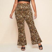 Pantalones Extra Grande Leopardo Glamour