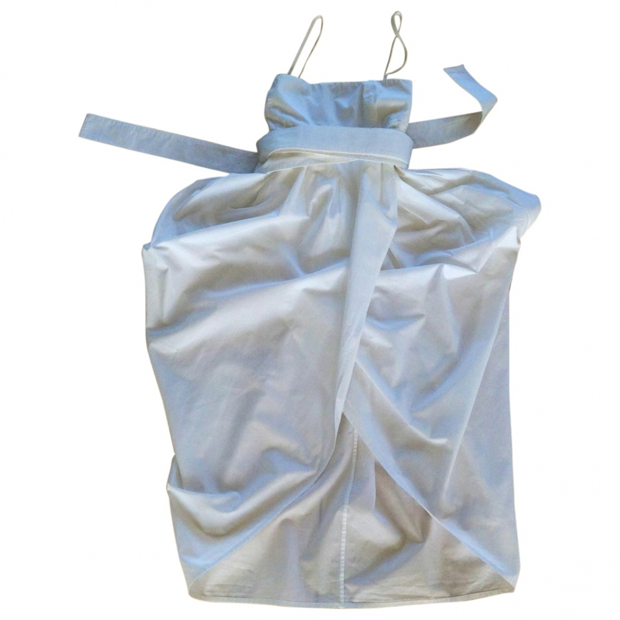 Alexander Mcqueen \N White Cotton dress for Women 40 IT