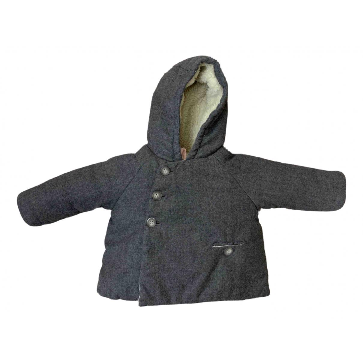 Bonpoint - Blousons.Manteaux   pour enfant en laine - gris