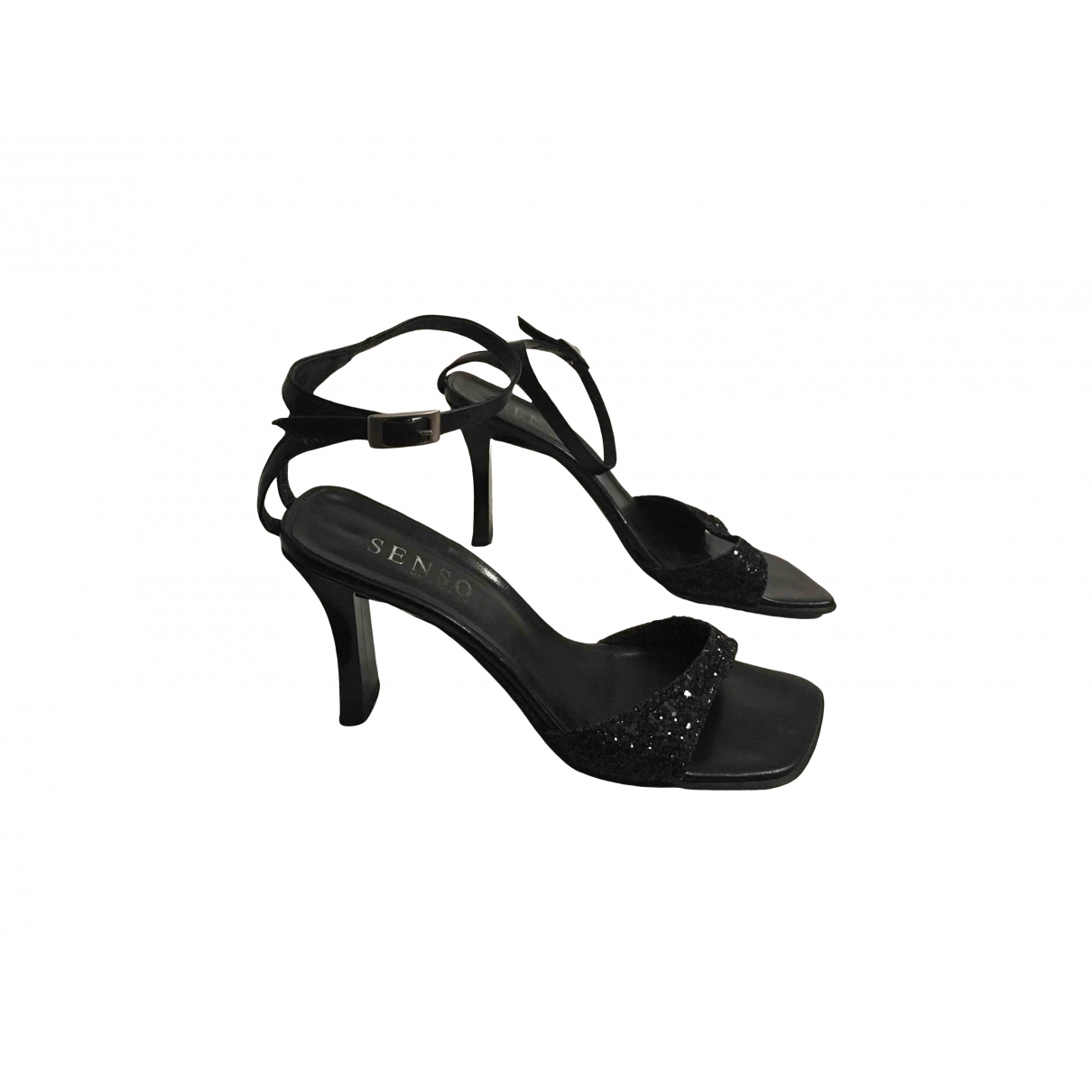Senso \N Black Leather Sandals for Women 39 IT