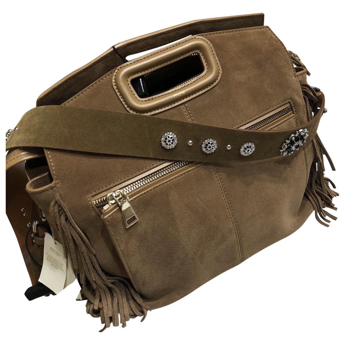 Maje Spring Summer 2020 Brown Suede handbag for Women \N