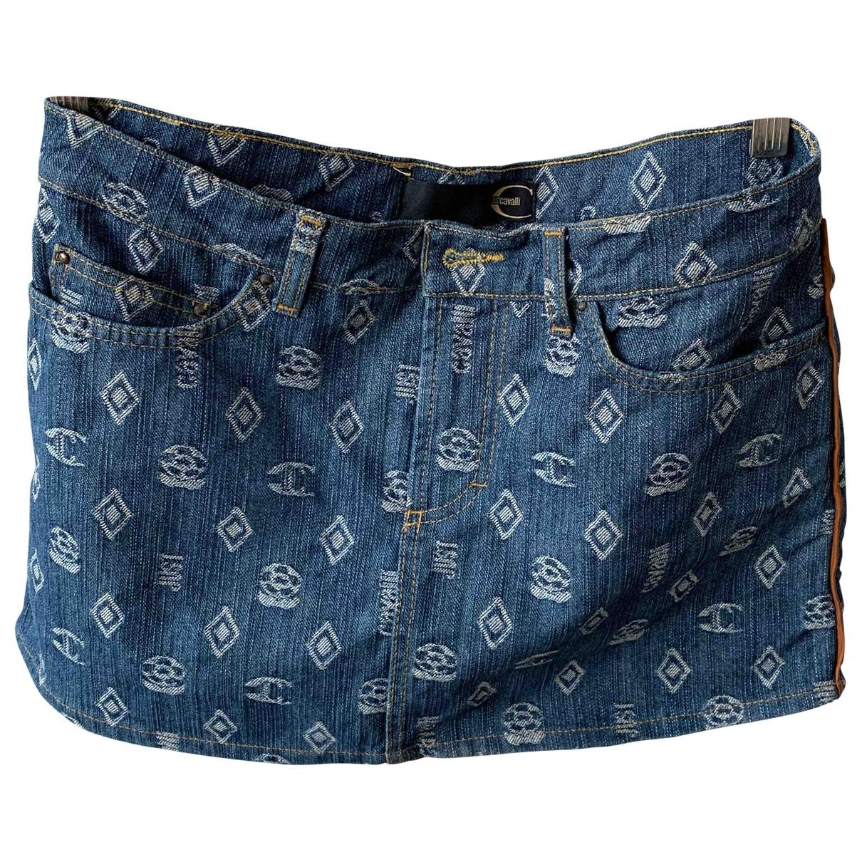 Just Cavalli \N Blue Denim - Jeans skirt for Women 40 IT