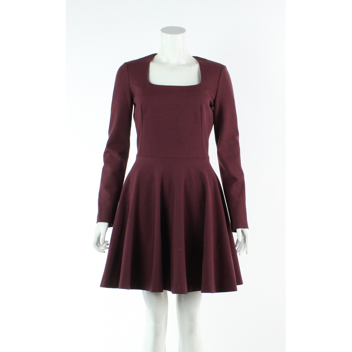 Alexander Mcqueen \N Burgundy Wool dress for Women 40 FR