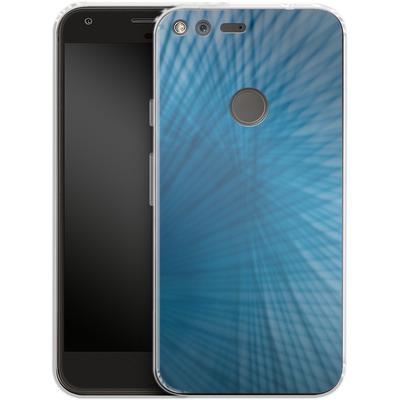 Google Pixel XL Silikon Handyhuelle - Blue Lines von Joy StClaire
