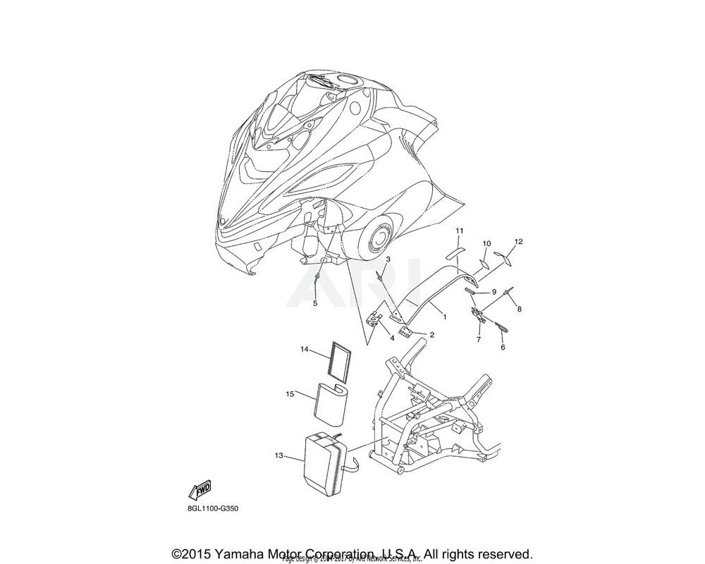 Yamaha OEM 8GL-77311-00-00 GUARD, DRIVE