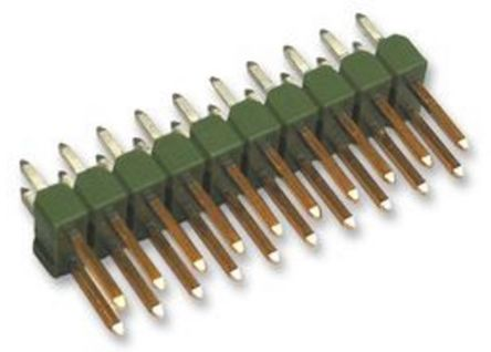 TE Connectivity , AMPMODU MOD II, 32 Way, 2 Row, Straight Pin Header (10)