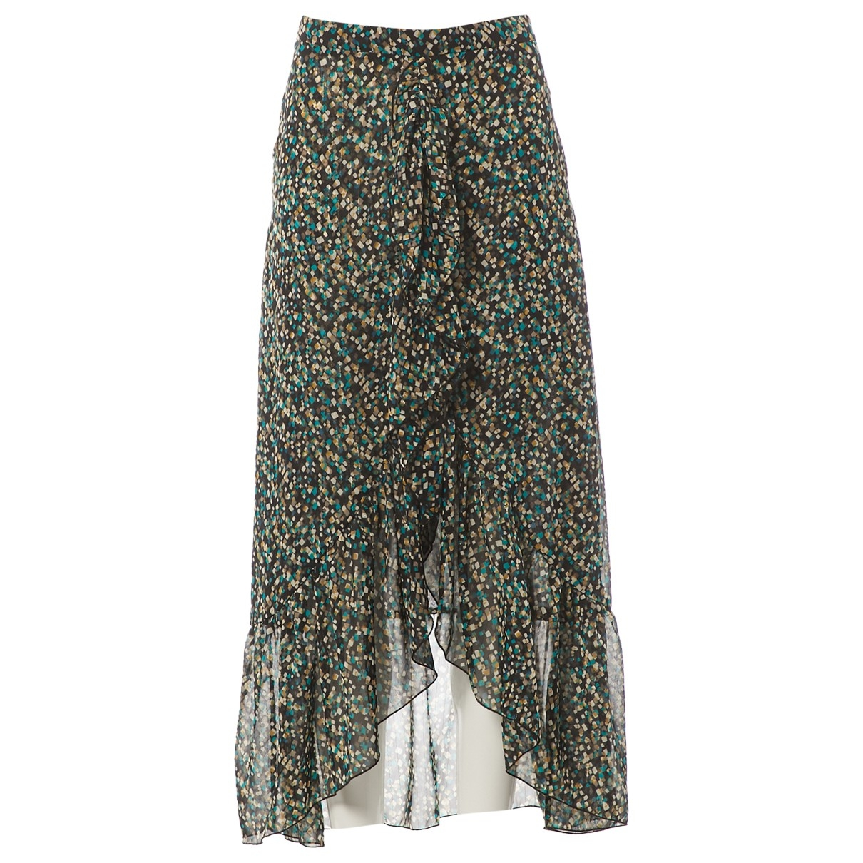 Non Signe / Unsigned \N Rocke in  Bunt Polyester