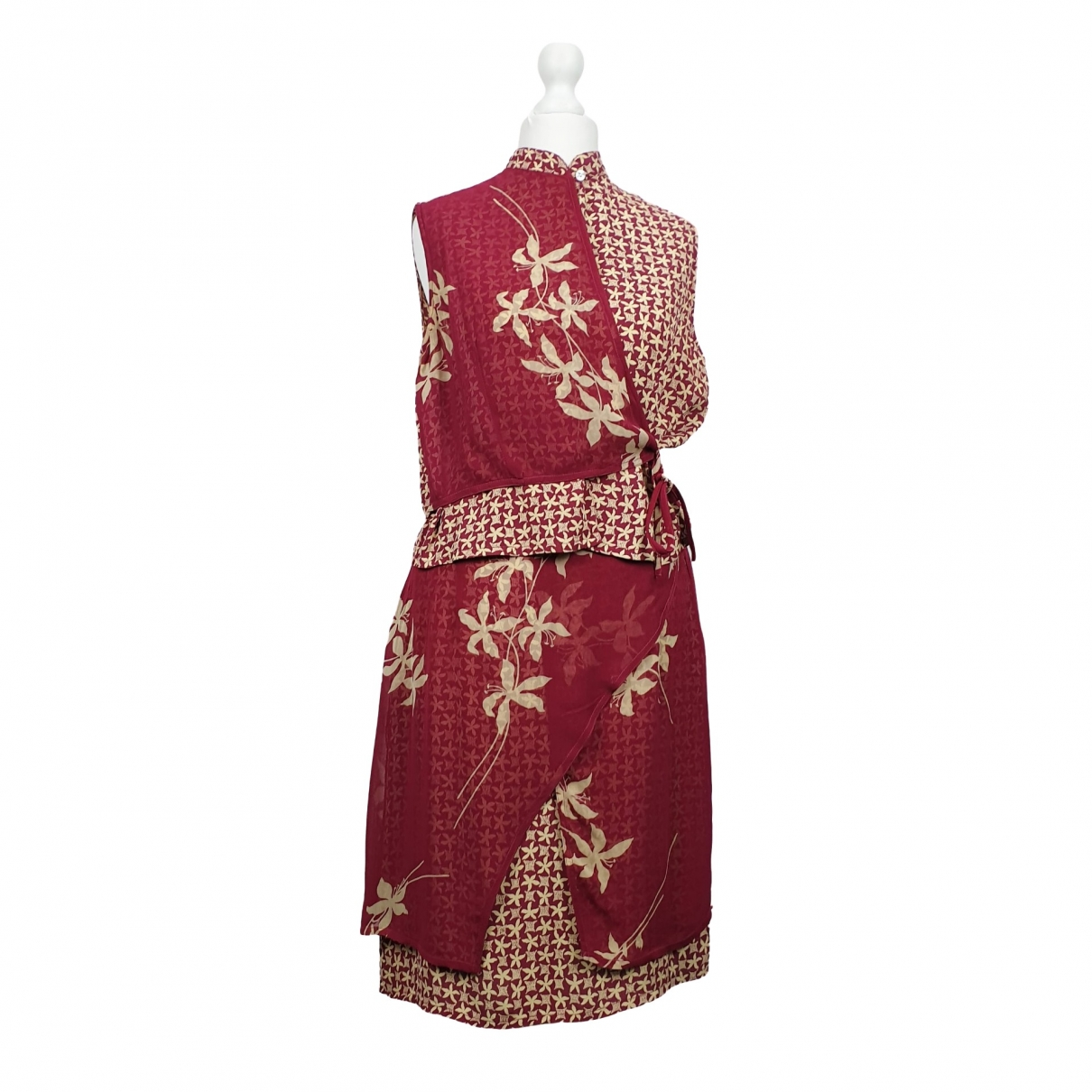 Non Signé / Unsigned \N Burgundy dress for Women 40 IT