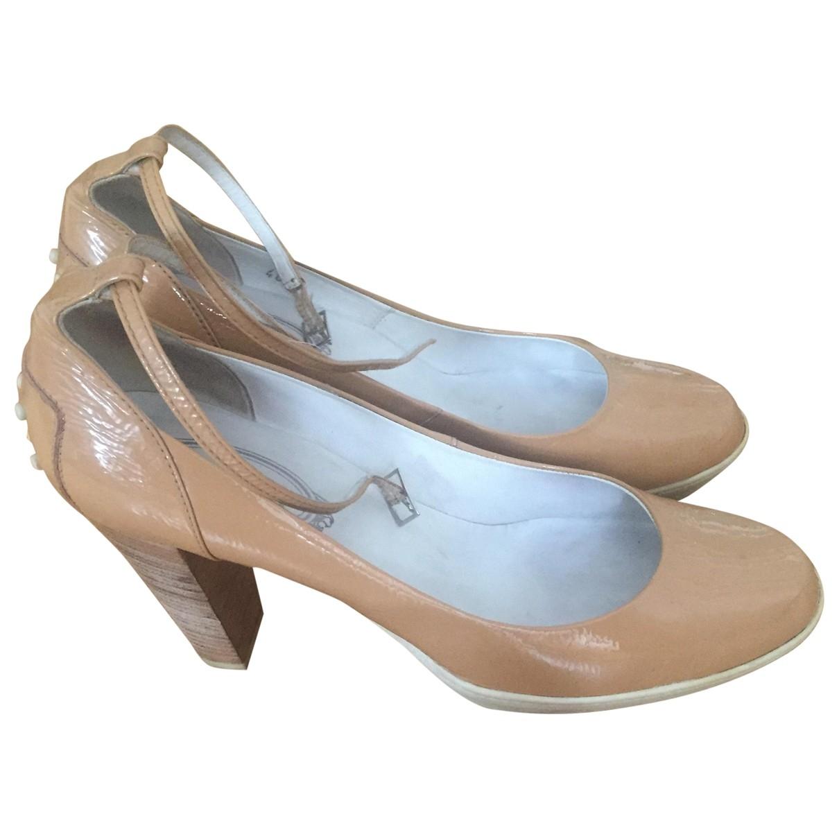 Tods - Escarpins   pour femme en cuir verni - beige