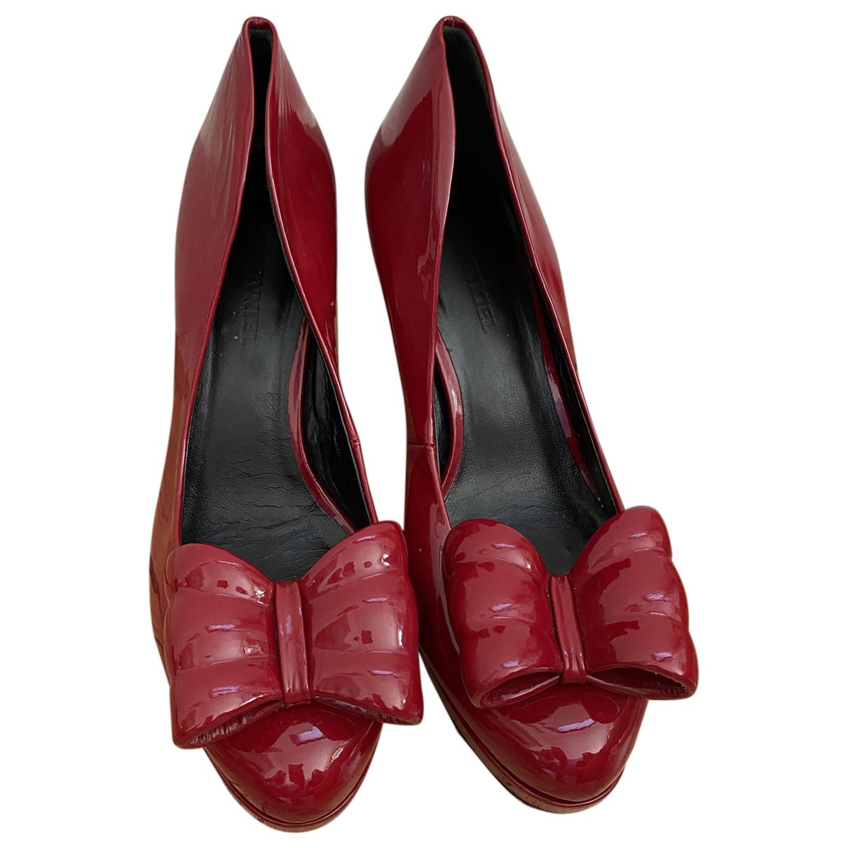 Sonia Rykiel \N Red Leather Heels for Women 38.5 EU