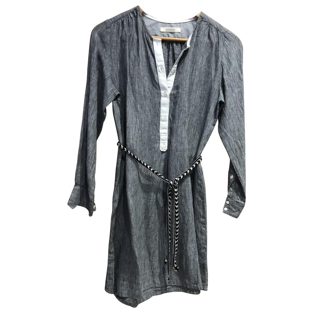 Sessun - Robe   pour femme en coton - bleu