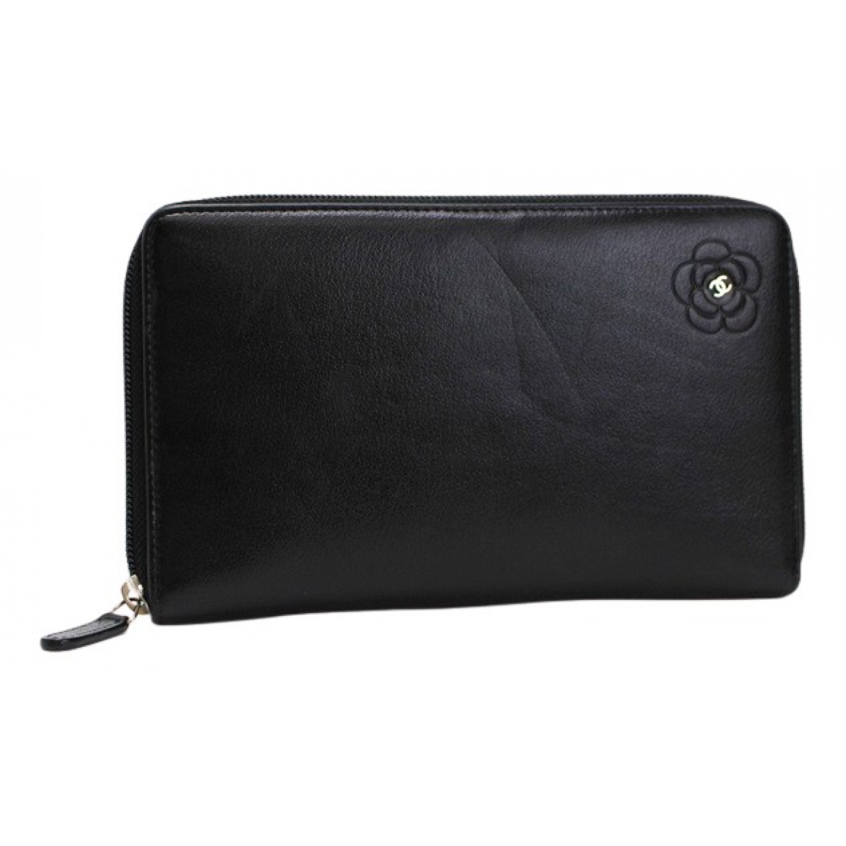 Chanel - Portefeuille   pour femme en cuir - noir