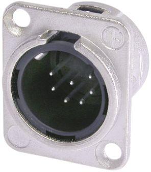 Neutrik 7 Way Panel Mount XLR Connector, Male, Silver over Nickel, 50 V, Natural