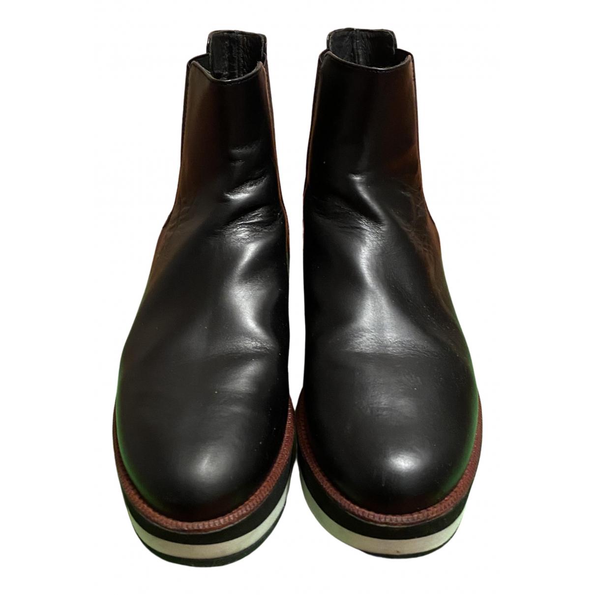 Paloma Barcelo - Bottes   pour femme en cuir - noir