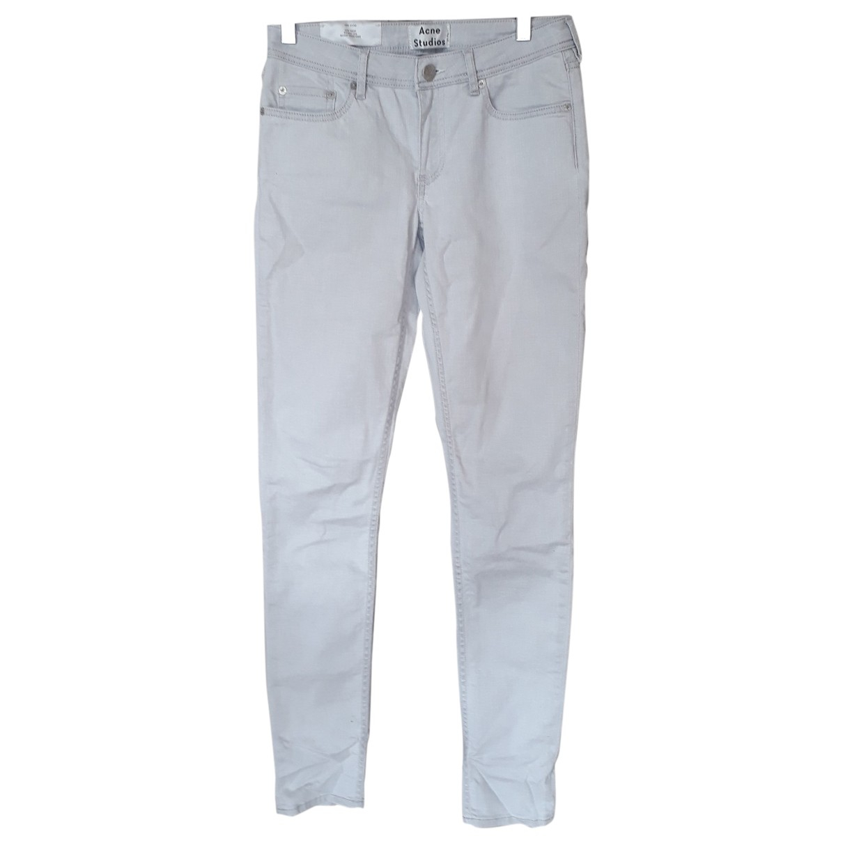 Acne Studios N Grey Cotton - elasthane Jeans for Women 27 US
